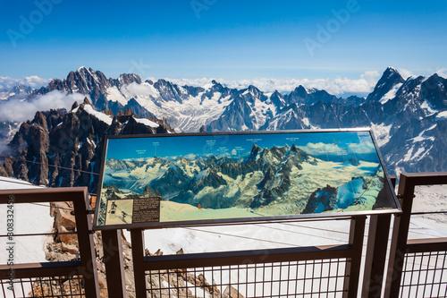 Aiguille du Midi mountain, Chamonix Canvas Print