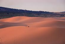Sunset In The Desert Coral Pink Sand Dunes Utah