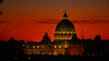 St. Peter's Basilica Roma Vatican City Church Building Sunset
