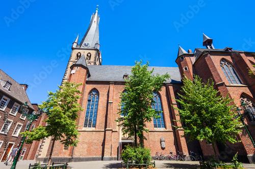 St. Basilika Lambertus in Dusseldorf Billede på lærred