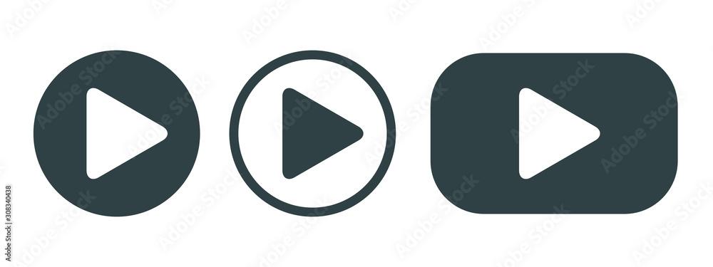 Fototapeta Player Button set icon sign – vector