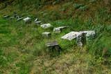 Fototapeta Kamienie - kamienie na trawie