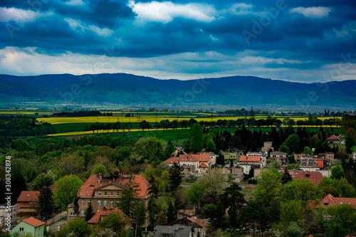Fototapeta panorama miasta ząbkowce śląskie obraz