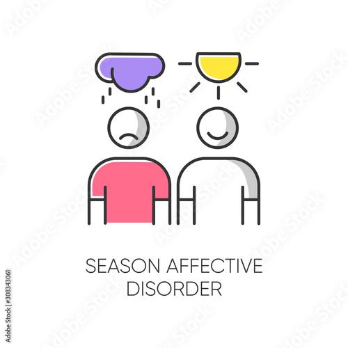 Seasonal affective disorder color icon Fototapet
