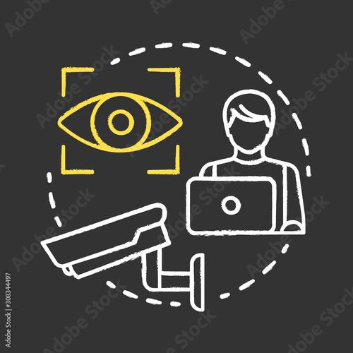 Valokuvatapetti Video surveillance chalk concept icon