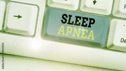 Handwriting text writing Sleep Apnea Wallpaper Mural