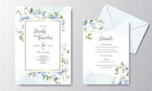 Beautiful Floral Wreath Wedding Invitation Card Template