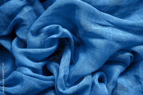 Obraz na płótnie Blue cotton fabric background