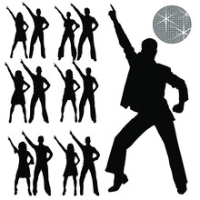 Vector Silhouettes Of Men And ...