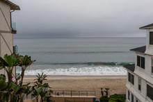 Scenic Carlsbad Vista On A Rainy Winter Day, Southern California