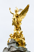 Gilded Winged Victory At The Top Of The Memorial