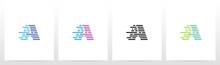 Lines And Dots Letter Logo Des...