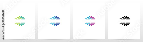 Lines And Dots Letter Logo Design O