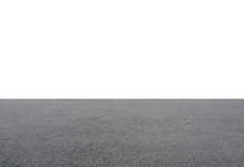 Empty Asphalt Floor Isolated O...