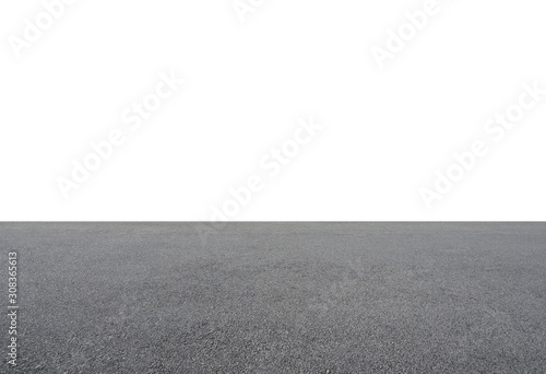 Fotografering Empty asphalt floor isolated on white background