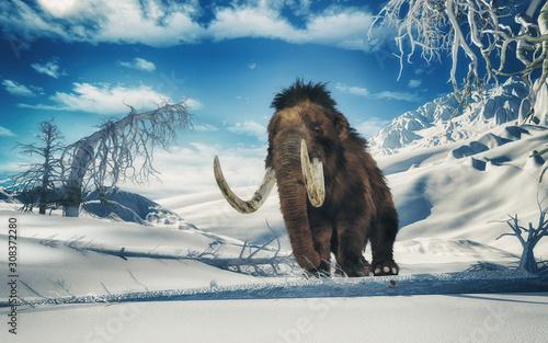 Fotografía mammoth in the mountains