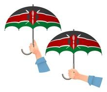 Kenya Flag Umbrella