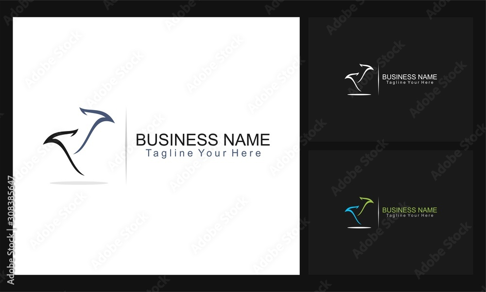 travel business concept design logo
