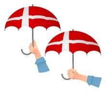 Denmark Flag Umbrella