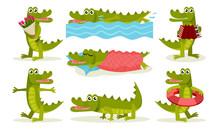 Cute Friendly Crocodile Cartoo...