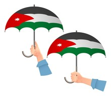 Jordan Flag Umbrella