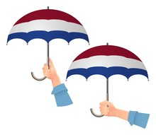 Netherlands Flag Umbrella