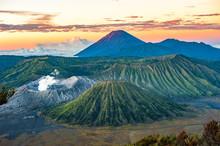 Bromo Volcano At Sunrise, Java...