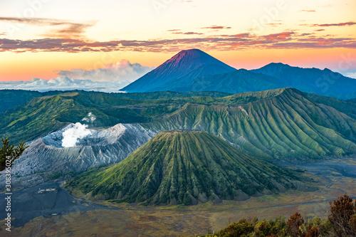 Fototapeta Bromo volcano at sunrise, Java Island, Indonesia