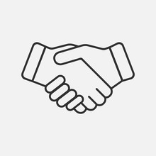 Handshake Icon Isolated On Whi...