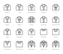Shirt Collars, Jacket Types Fl...