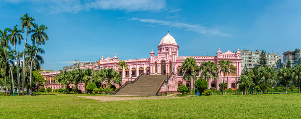 Panoramic view at the Mughal Palace - Ahsan Manzil in Dhaka, Bangladesh