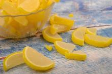 Marmalade Lemon Slices On Wood...