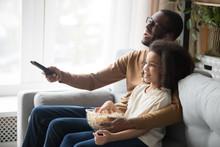 Happy Black Dad And Daughter C...