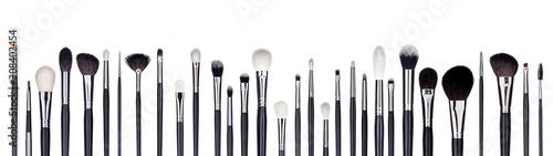 Set of make-up brushes lined up in alternating pattern Wallpaper Mural