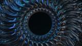 Organisches Design: metallische Spirale mit Loch
