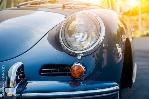 Photo Novosibirsk, Russia - June 16, 2017: Porsche 356
