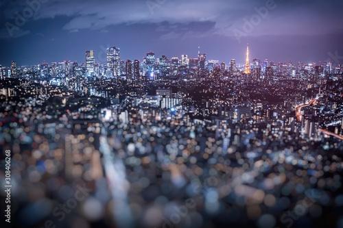 Fotografia ぼかして撮影した東京港区の夜景
