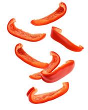 Falling Sweet Pepper Slices, P...