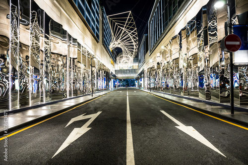 Photo Night scene of Shenzhen city street, China