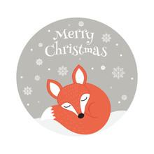 Cartoon Merry Christmas Or Hap...