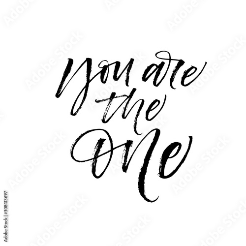 You are the One phrase Canvas Print