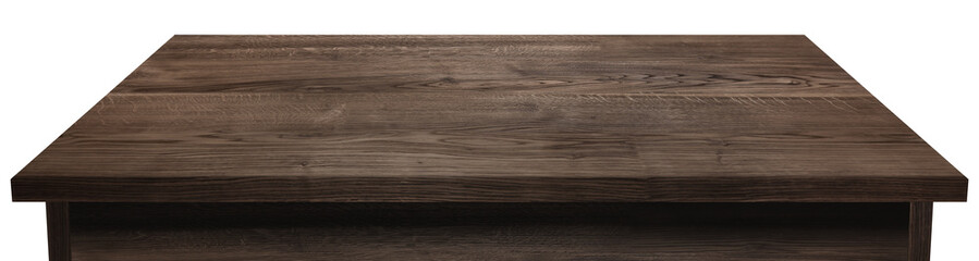 wooden tabletop or shelf isolated on white