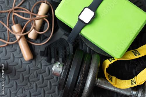 obraz PCV sport watch training workout training