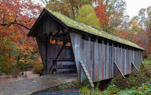 Pisgah Covered Bridge In Autumn
