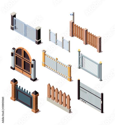 Fotografia Construction fences