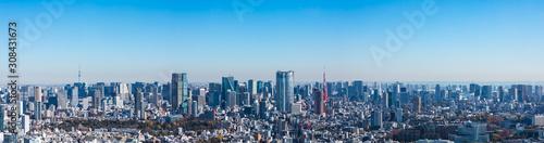 Fototapeta (東京都-風景パノラマ)ラウンジから望む六本木側風景1 obraz
