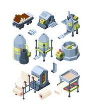 Paper Production Set. Industri...