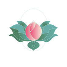 Floral Ornament Lotus Bud Pink Green