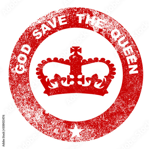 Photo God Save The Queen Rubber Stamp