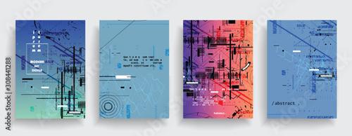 Cuadros en Lienzo  Creative cover design. Set of horizontal a4 covers